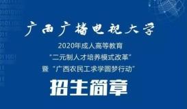 2021年广西广播电视大学成人教育招生简章
